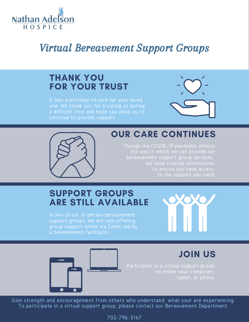 Virtual Bereavement Support Groups Flyer